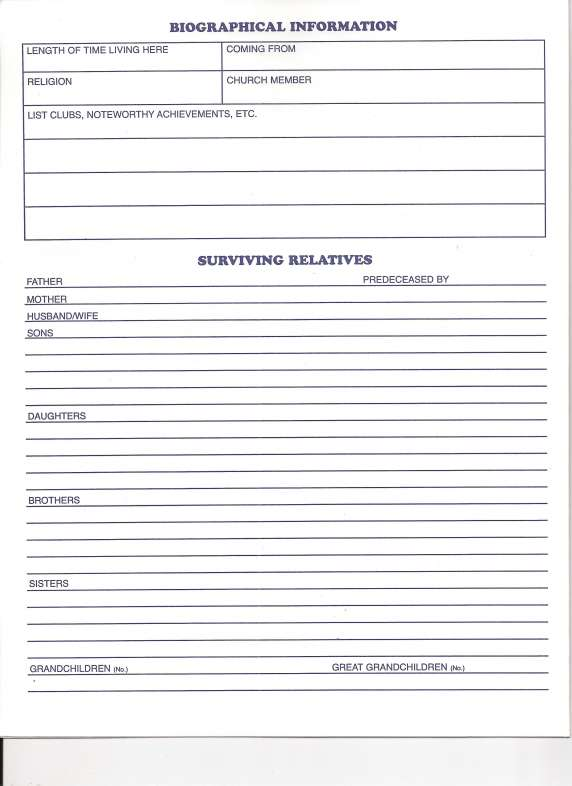 funeral checklist paul a shaker funeral home